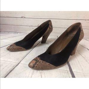 8c4f692d81 Charles Jourdan Shoes - Vintage France Wingtip Heels Pumps Leather 8.5